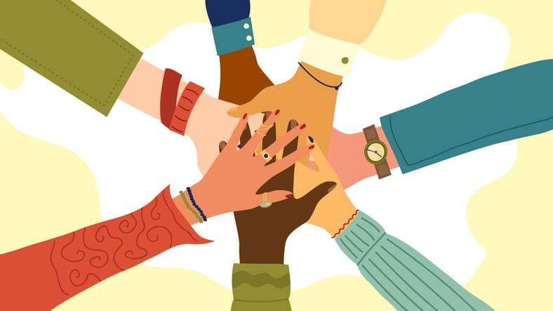 hands together making a difference