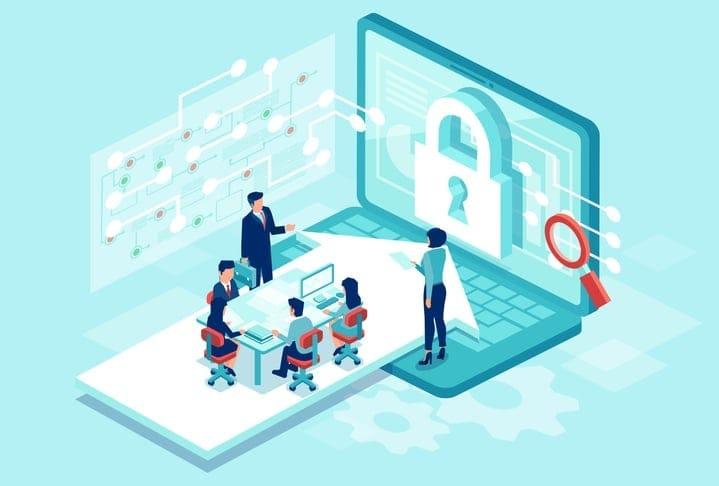 ssl security padlock on screen