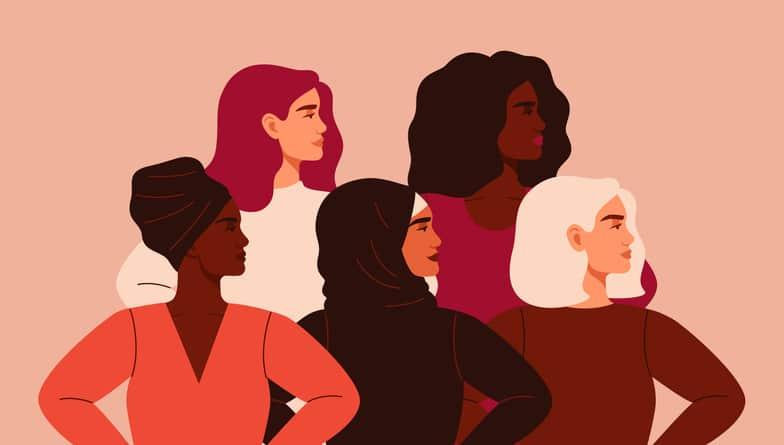 five diverse women