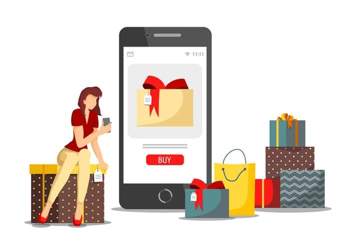 social media for buying