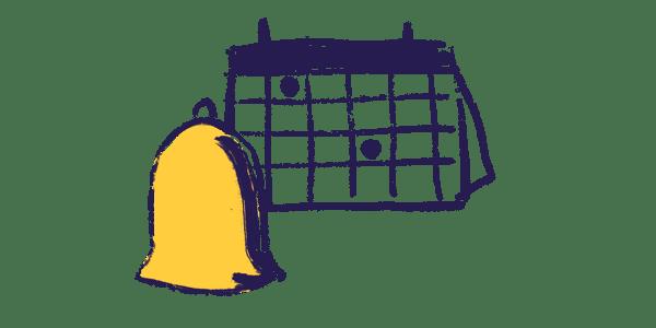 bell alerts on calendar dates