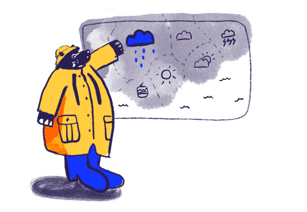 hippo reporting and showing weather forecast