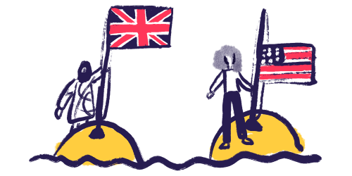 country flags on land