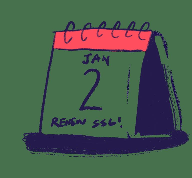 calendar reminder to renew SSL