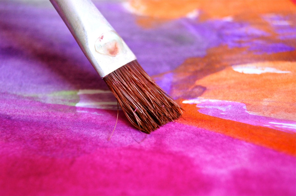 Child Play Color Image Paint Brush Pink Art
